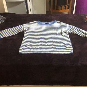 J Crew Blue and Beige Stripped Sweater shirt